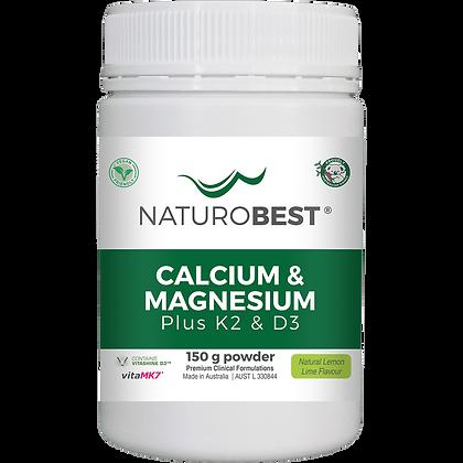 Naturobest - Calcium & Magnesium Plus K2 & D3