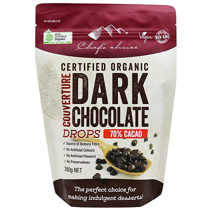 Chefs Choice Dessert - Certified Organic Dark Chocolate Couverture Drops