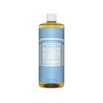 Dr Bronner's - Pure Castile Liquid Soap Baby Unscented