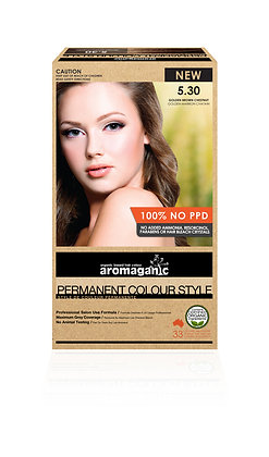 Aromaganic - Permanent Colour Style  5.30 Golden Brown Chestnut