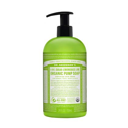 Dr Bronner's - Organic Pump Soap Lemongrass Lime