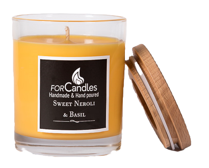 For Candles - Sweet Neroli & Basil Soy Candle