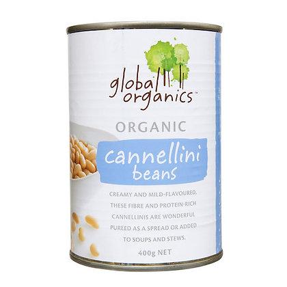 Global Organics -  Beans Cannellini Organic (canned) 400g