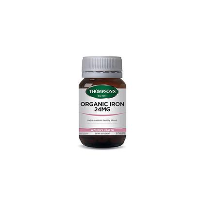 Thompsons - Organic Iron 24mg 30t