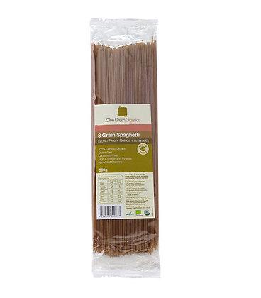 Olive Green - 3 Grain Spaghetti