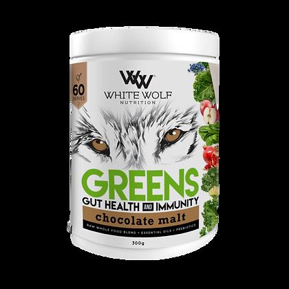 White Wolf - Chocolate Malt Greens+ Gut Health And Immunity 150g