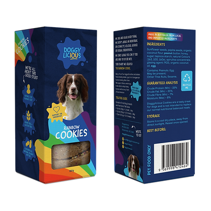 Doggylicious - Rainbow Cookies 160g