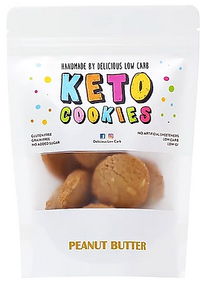 Delicious Low Carb - Keto Cookies  Peanut Butter 100gr