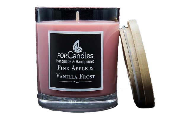 For Candles - Pink Apple & Vanilla Frost Soy Candle