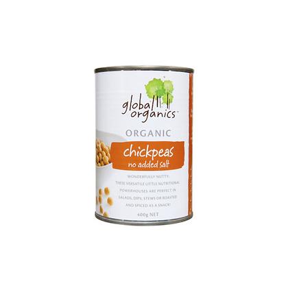Global Organics - Chick Peas No Salt 400g