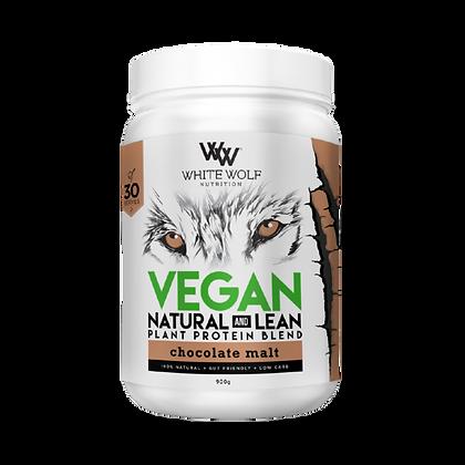 White Wolf - Chocolate Malt Natural + Lean Vegan Protein Blend 900g