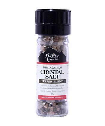 Nirvana - Himalayan Salt & Organic Peppercorn Blend Grinder 90g