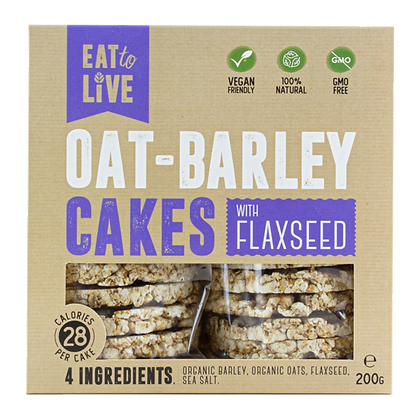 Eat to Live - Oat Barley Cakes with Flaxseed