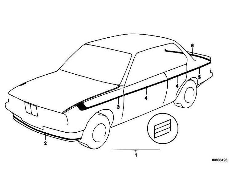 BMW E21 STRIPING KIT