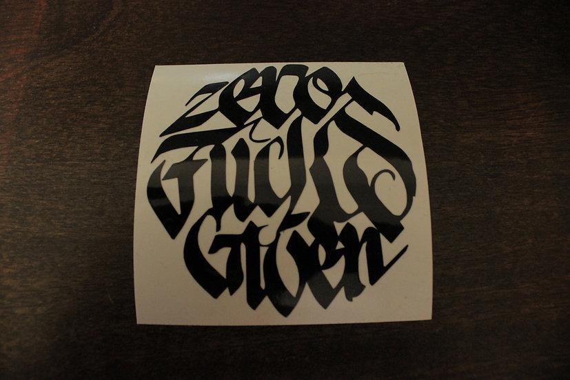 ZERO FUCKS GRAFFITI STICKER