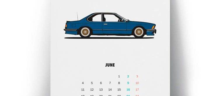 DIAGONALT CLASSIC BMW CALENDER