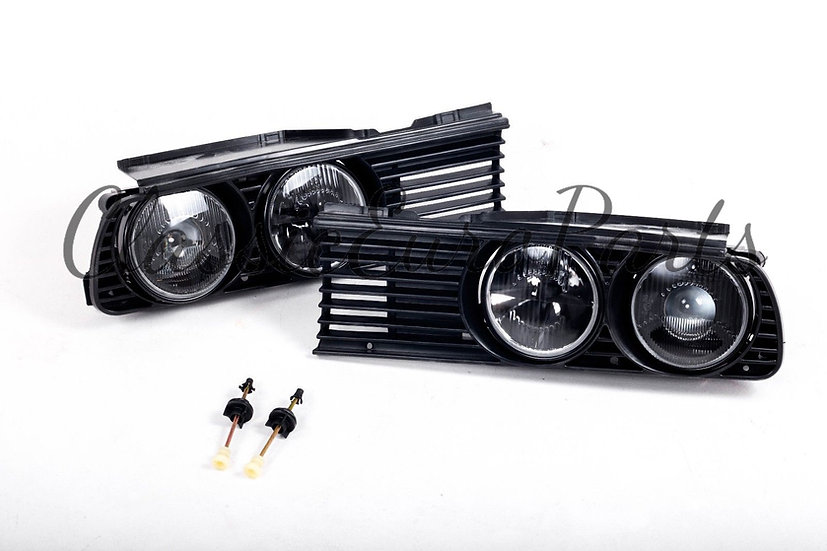 BMW E30 DARK HELLA LIGHTS AND GRILL SET