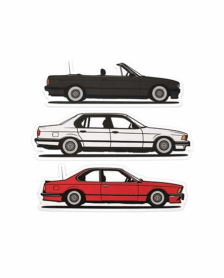 DIAGONALT BMW CAR STICKERS