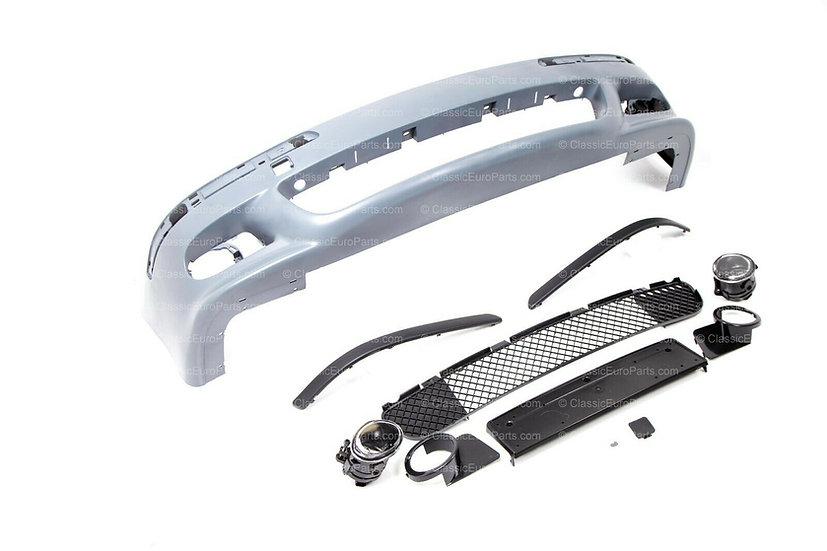BMW E39 FRONT BUMPER + FOGLIGHT SET WITHOUT WASHERS + PDC