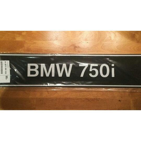 BMW 750I DEALER PLATES