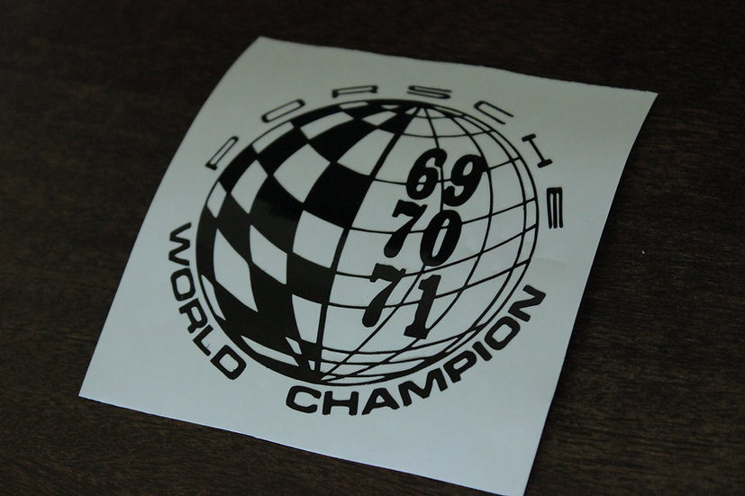 PORSCHE WORLD CHAMPION STICKER
