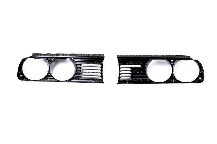BMW E30 EURO HEADLIGHT GRILLS ORIGINAL