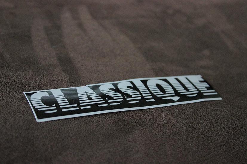 CLASSIQUE RETRO 80'S VINYL STICKER BIG