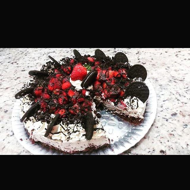 Torta de bolacha Oreo.