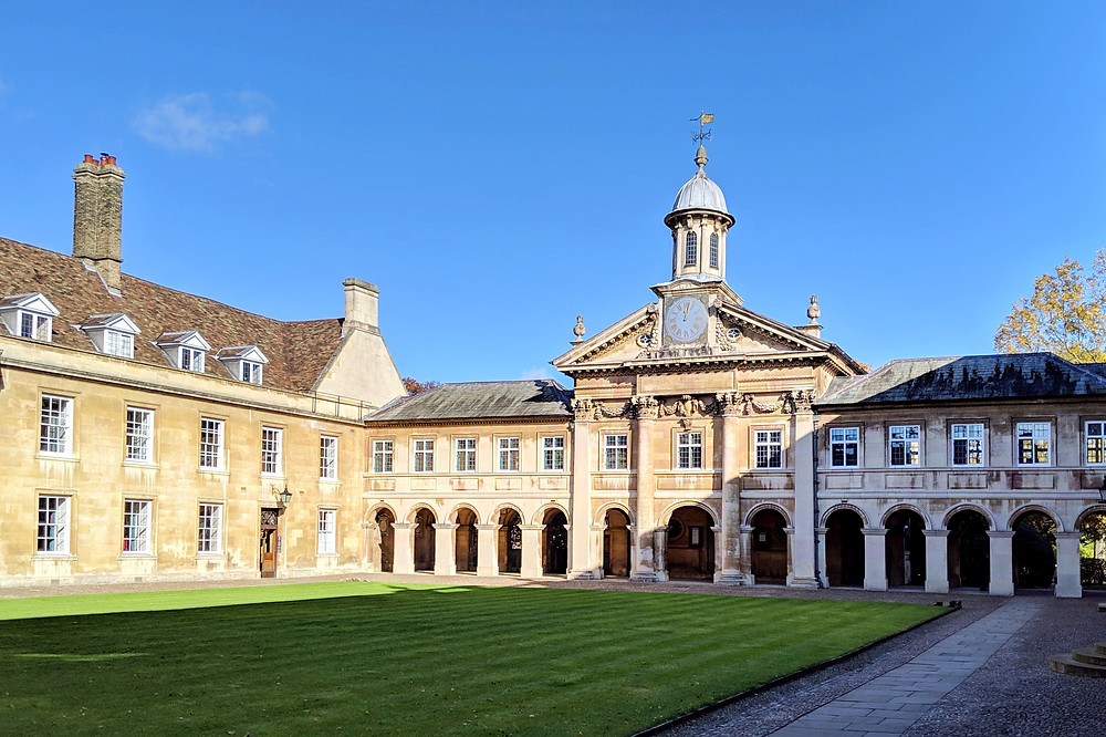 Emmanuel College - its chapel was designed by Sir Christopher Wren in 1677.