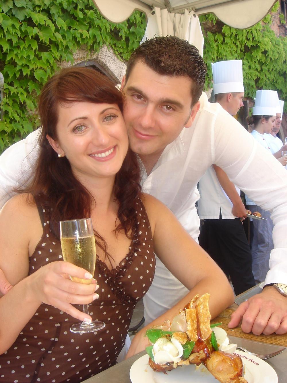 Our engagement party at Auberge de La Vignette Haute, Auribeau-sur-Siagne, 2006