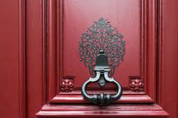 Parisian Red Door Knocker