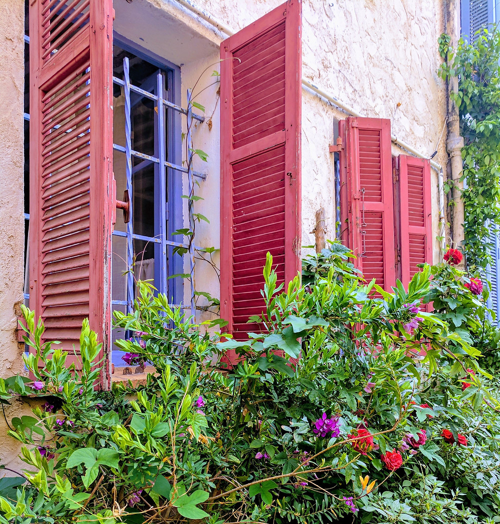 Colorful shutters in Antibes