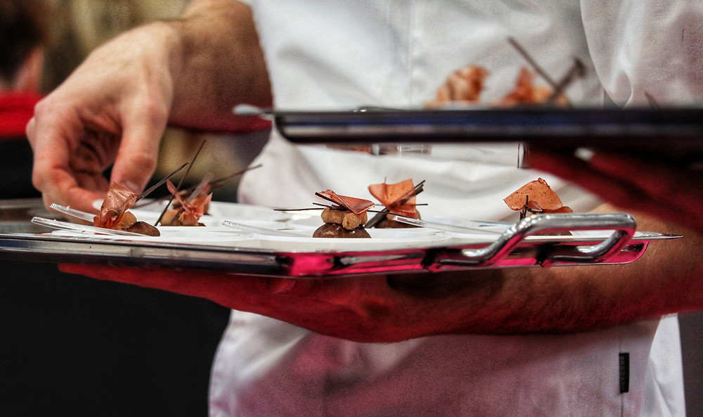 Miniature tart, creamy and crunchy chocolate brioche - live demo at Salon du Chocolat Paris 2019