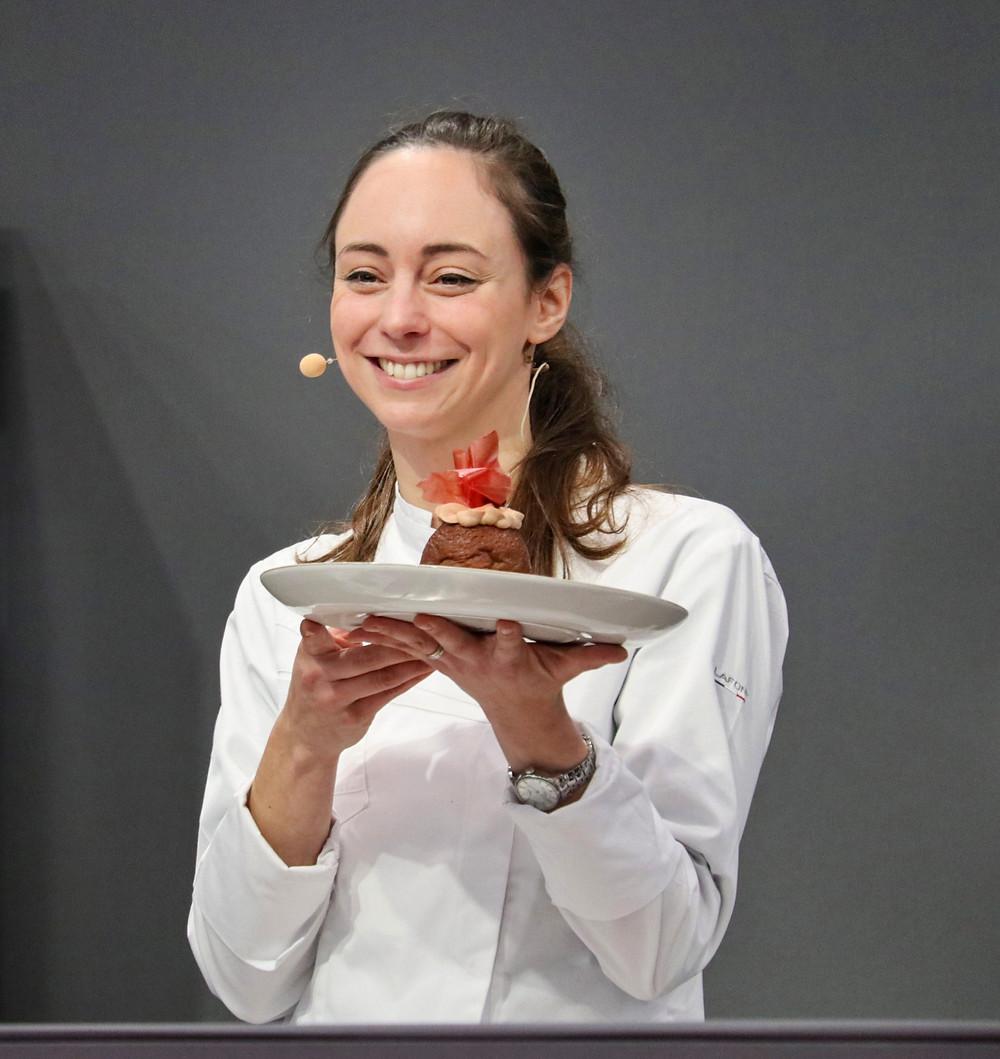 Pastry Chef Nina Métayer at Salon du Chocolat, Paris 2019.