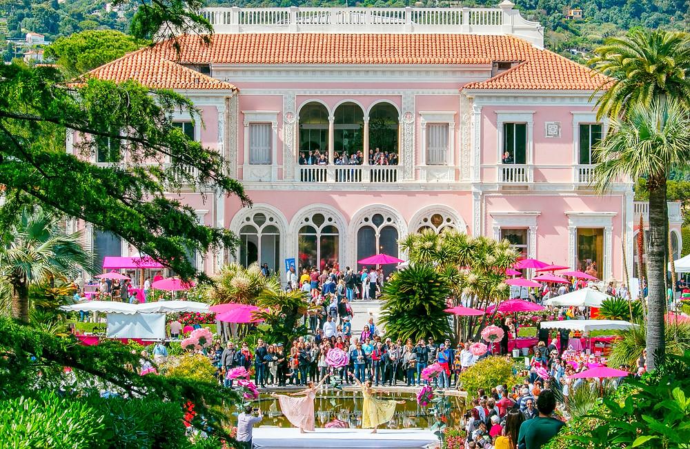 The Rose Festival takes place every year at Villa Ephrussi de Rothschild, Saint-Jean-Cap-Ferrat