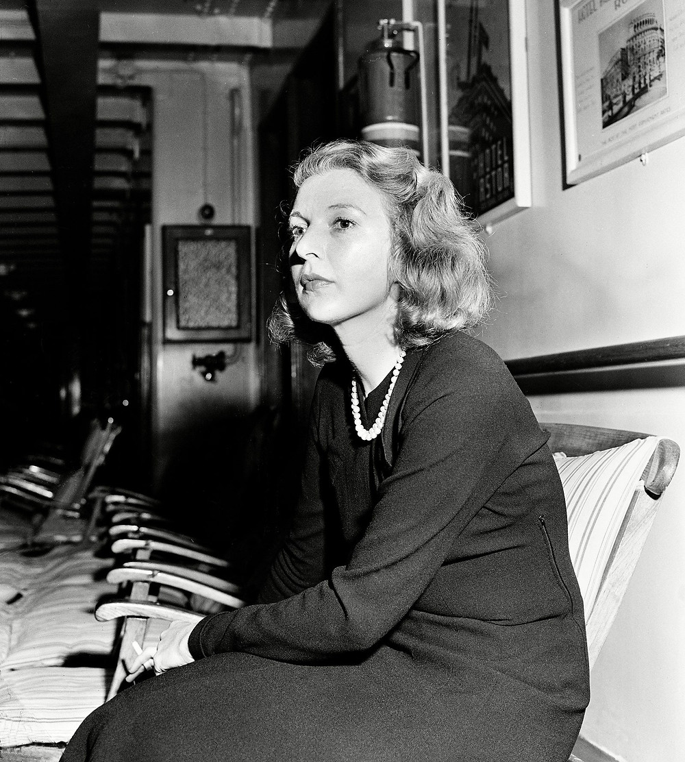 The writer Martha Gellhorn, who reported on the Spanish Civil War for The New Yorker, and from the beaches of D Day in a nurse's uniform. Photograph from AP / Shutterstock via The New Yorker