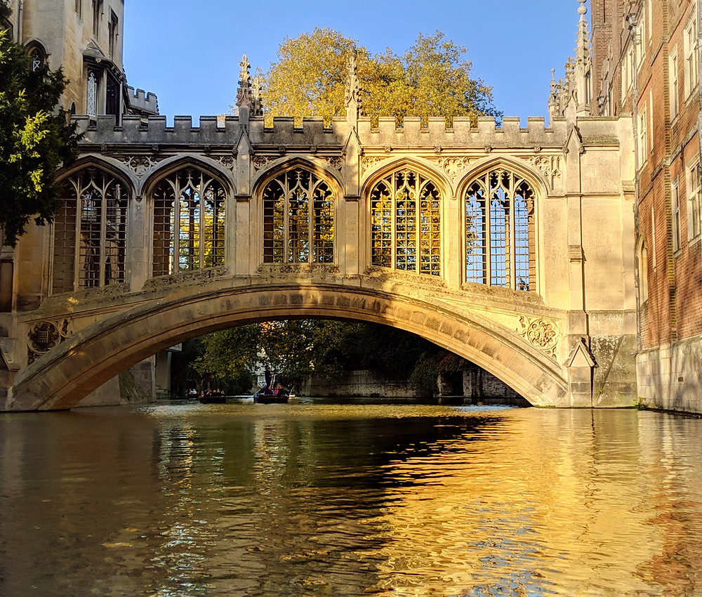 The Bridge of Sighs, a Gothic Revival covered bridge at St John's College, Cambridge