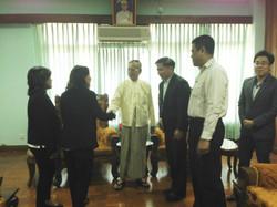 At Yangon Parliament Mar 14