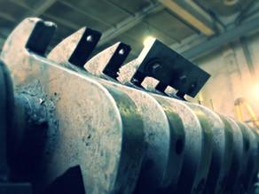 Дробилка для пластика: изготовление нового ротора, замена подшипников и шкива