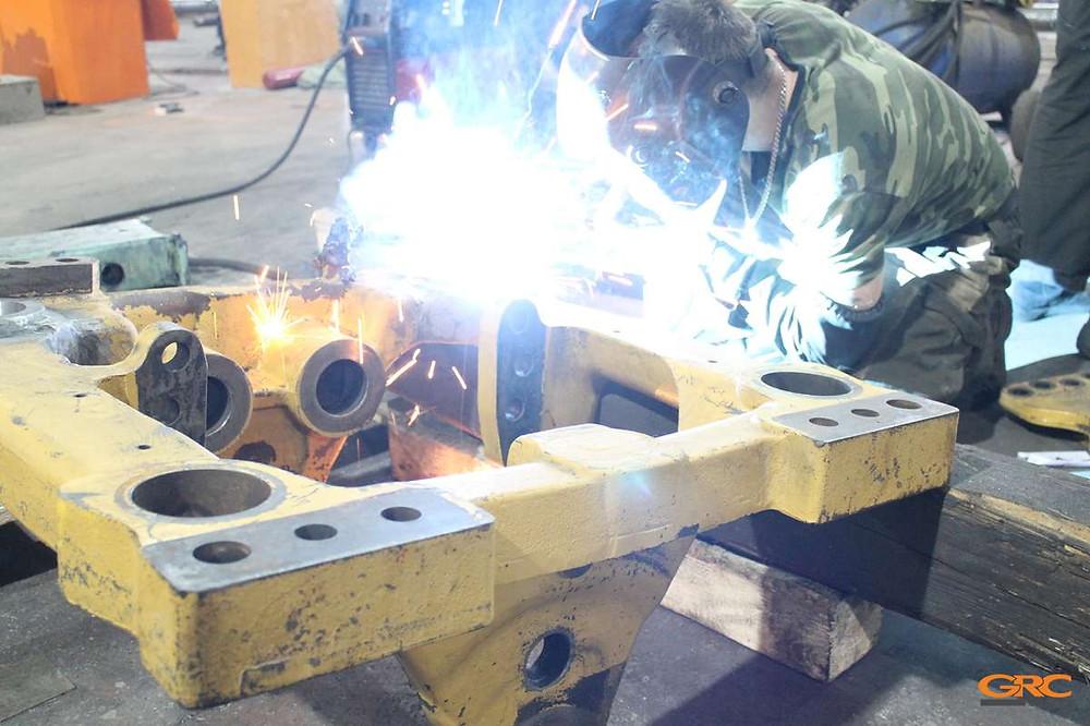 Сварка чугун-сталь (ремонт задней каретки)