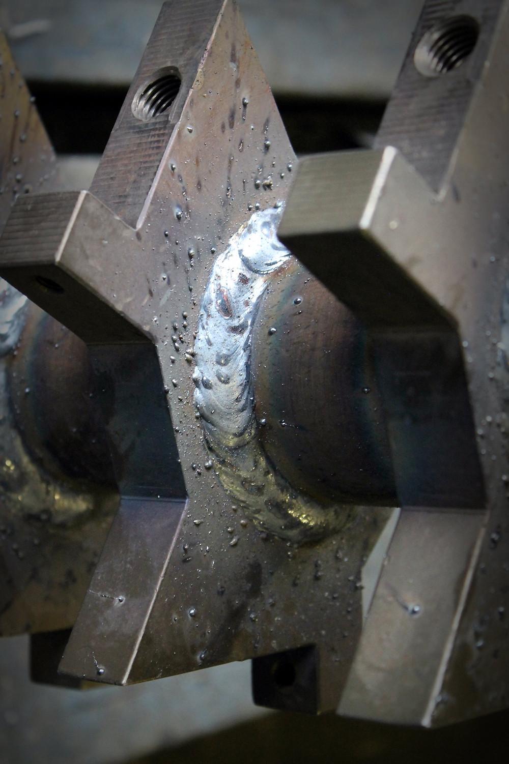 ротор дробилки после сварочных работ