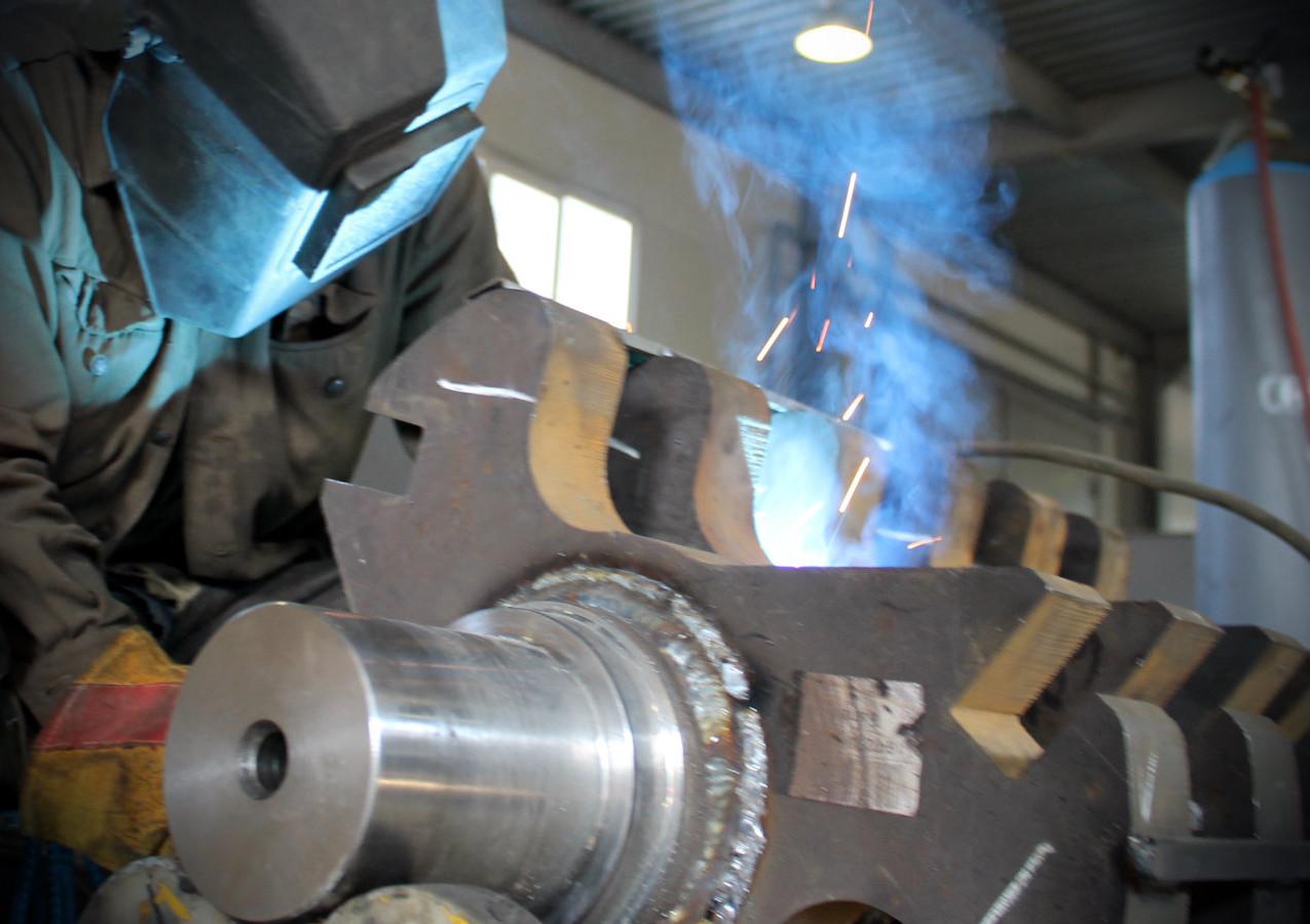 Сварка ротора дробилки полимеров