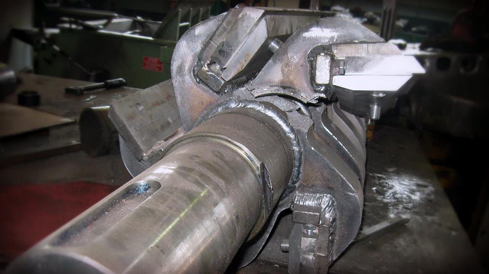 лопнул металл на сварочных швах ротора