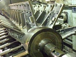 Ремонт шейки ротора дробилки пластика