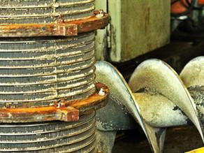 Ремонт шнека и сита сепаратора навоза