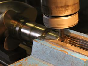Восстановление посадочных мест и шпон паза на шейках винтовых роторов компрессоров