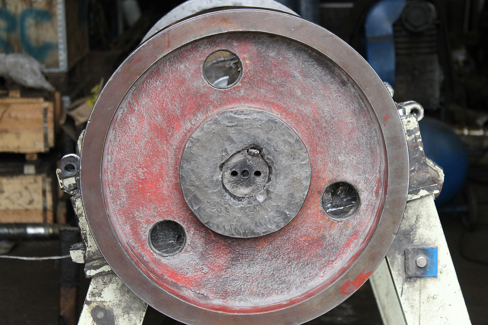 демонтаж шкива с ротора