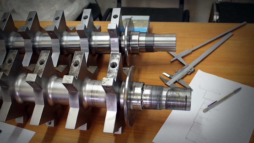 ремонт ротора дробилки кабеля