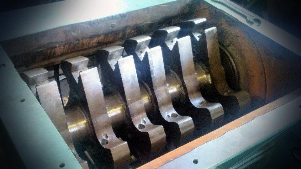Ротор дробилки Zerma после ремонта