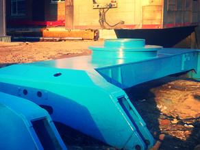 Капитальный ремонт рам перегружателей Terex Fuchs MHL-340